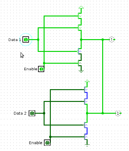 Circuit diagram for analog tri-state buffer drivers