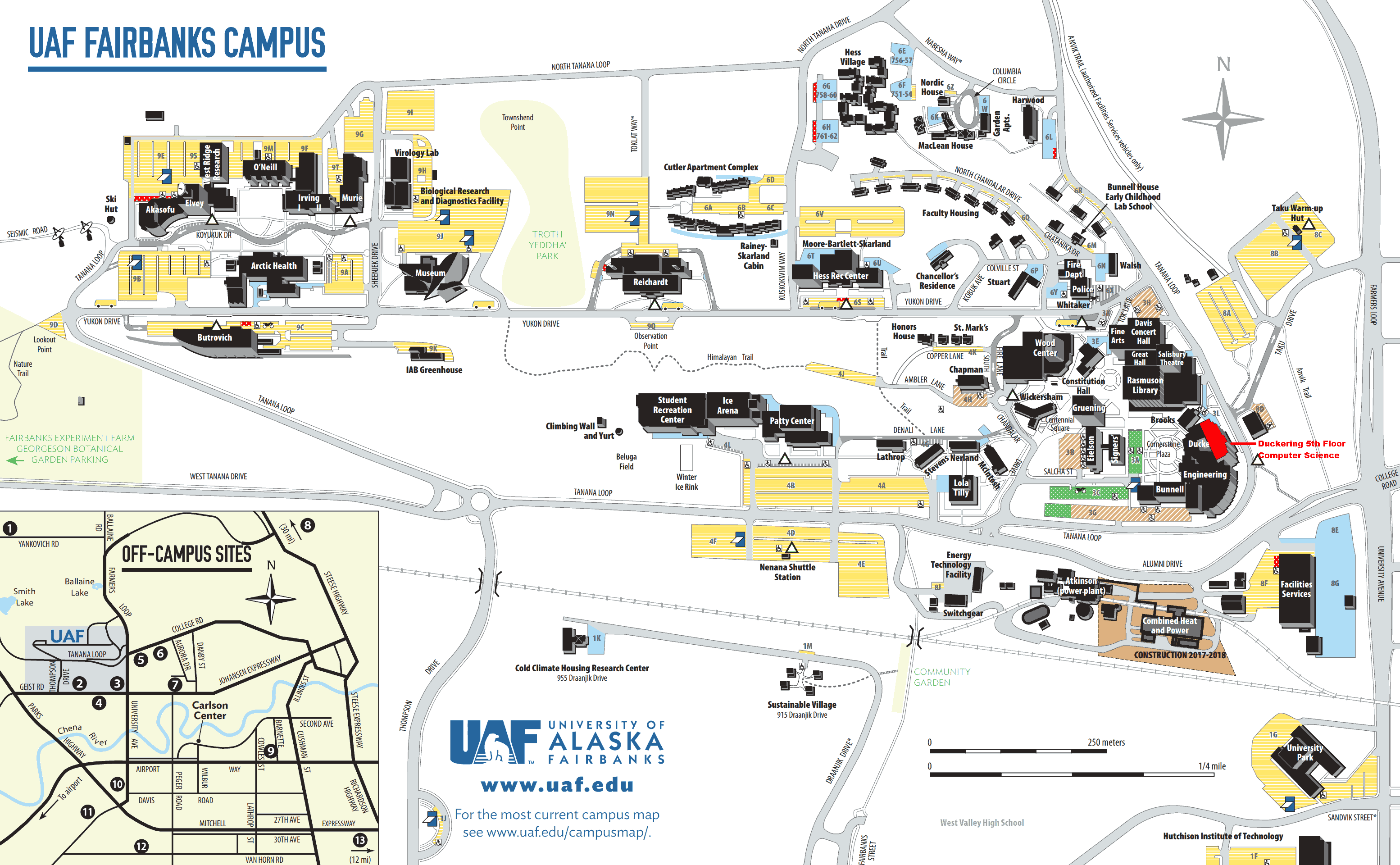 Overview map of campus
