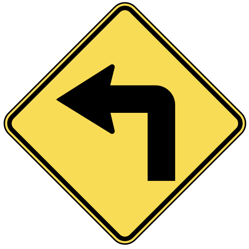 US Road Signs: w1-1 (warning)
